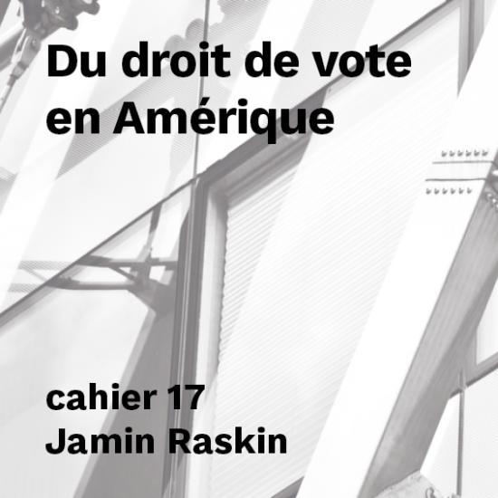 Du droit de vote en Amérique