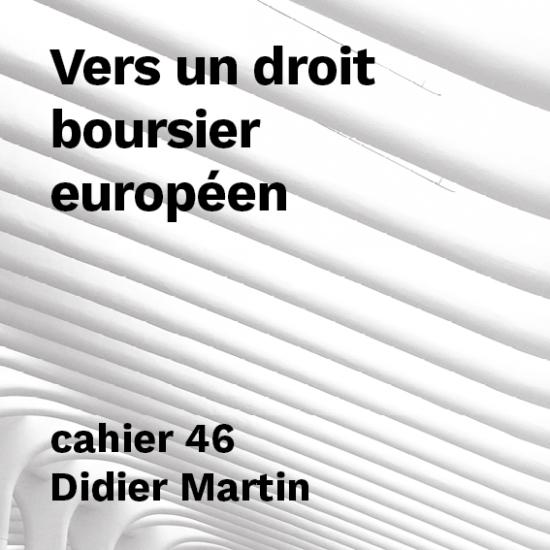 Vers un droit boursier européen