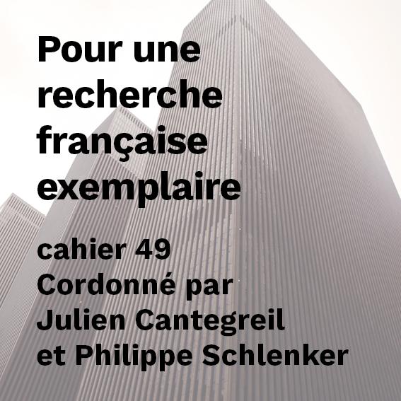 Pour une recherche française exemplaire